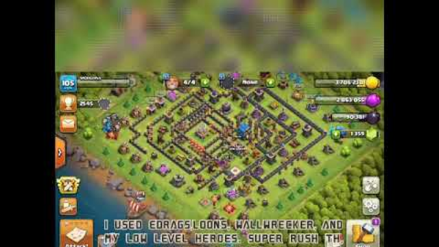 Clash of clans looting day, rush th 12