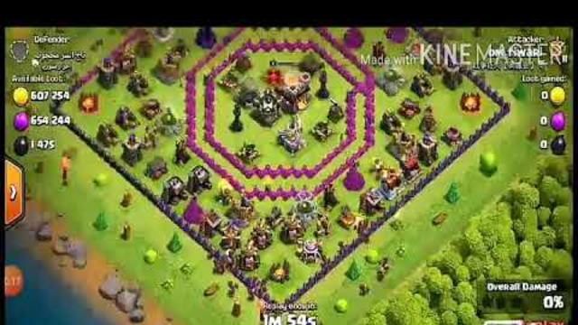Clash of clans loot with thown hall 10 max hog rider