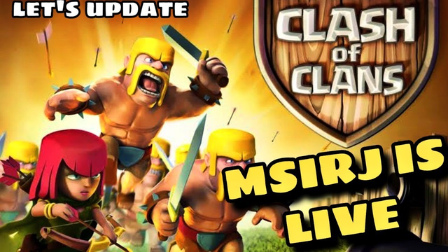 clash of clans live with entertainment!trophy pushing msirj  base visit special