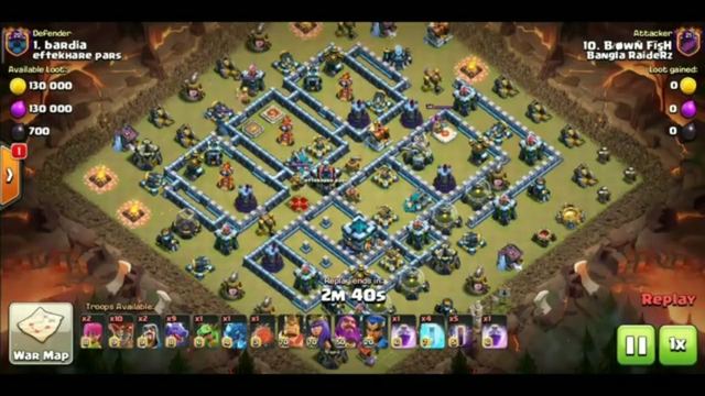 Th13 max base full damage by air atc in clash of clan(COC)