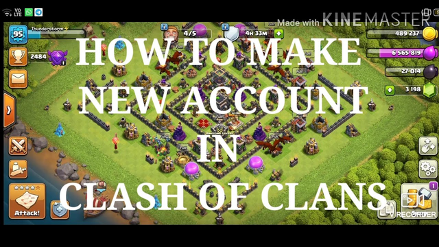 How To Create New Account In Clash Of Clans || Clashing with thunder