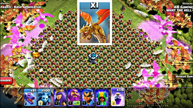*OMG* 500 GOLDEN DRAGON VS AIR SWEEPER BASE | CLASH OF CLANS FUNNY TROLL BASE | COC ATTACK