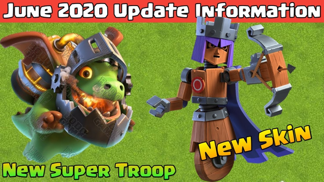 New Inferno Dragon and New Hero Skin June Update Full Information in Hindi | Clash of Clans |