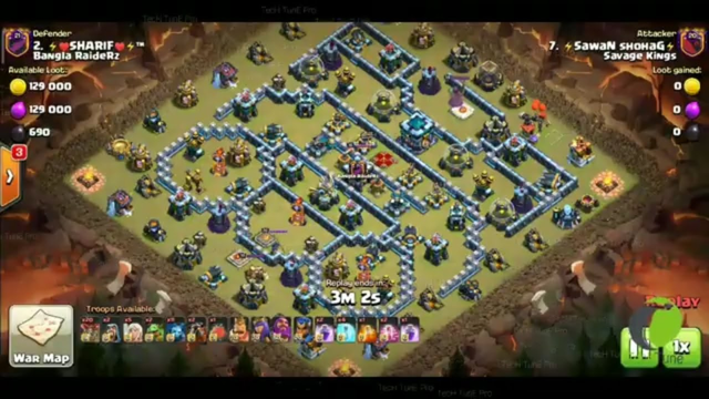 Clash Of Clans th13 full max base 100% Damage(COC)