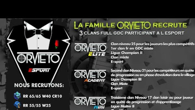 CLASH OF CLANS | ORVIETO RECRUTENT!!!!!