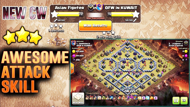 New TH13 Awesome Attack Skill with Grounds & Air Strategy - Clan War Destroying ( Clash of Clans )