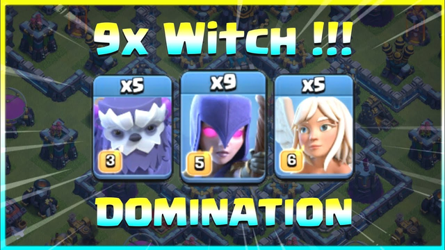 9 X Witch's = Domination | TH13 Legend League Attack strategy | Clash of clans