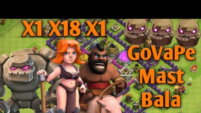 Clash Of Clans| Th8 GoVape Attack |(Golem + Valkyrie + Pekka)|How To 3Star With GoVape|Strategy 2020