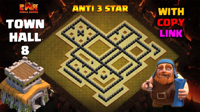 TOWN HALL 8 ANTI 3 STAR CWL WAR BASE LAYOUT 2020 | With Copy Link | CLASH OF CLANS