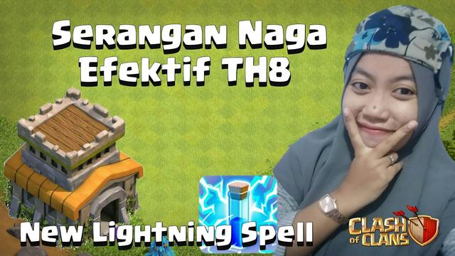 Serangan Naga Efektif TH8 | New Lightning Spell | COC Indonesia