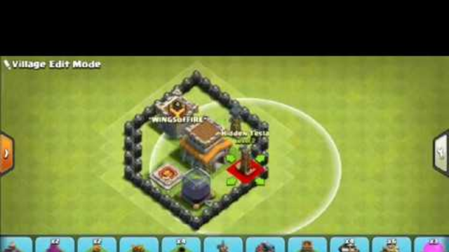 CLASH OF CLANS  : BEST town hall 8 base , Crystal league , base view ,place in crystal league