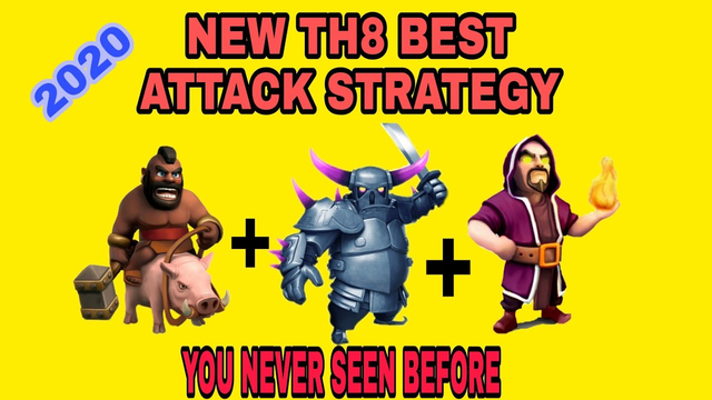 Clash of clans best attack strategy|Th8 best attack strategy 2020|Dark gaming yt