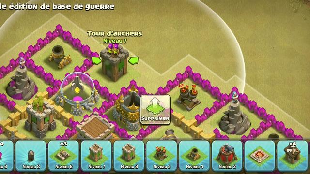 Meilleur base th8( clash of clans fr)