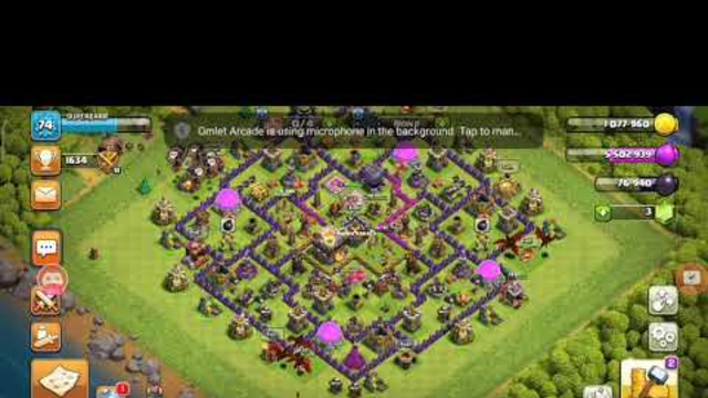 Clash of clans- An attack with 8 dragons and 9 ballons