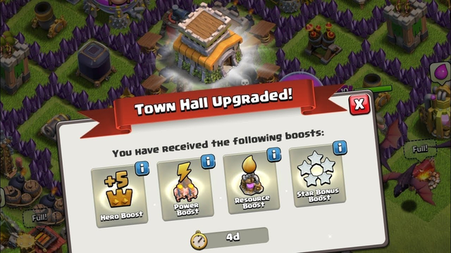Activating Free Boost of Townhall 8 for 4 days | Clash of Clans
