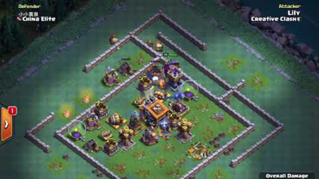 BH9 - Attack Strategy - 2x Dragons, 2x Minions, Pekka, Carts - Clash of Clans - Builder Base