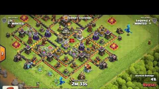 || Clash of clans || miner attack with low heroes !  best strategy for th 11