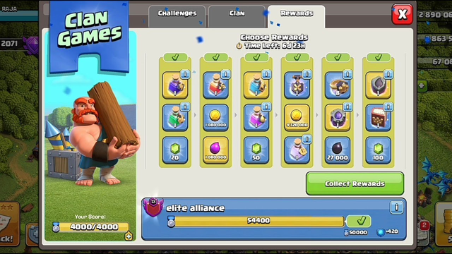 How to Collect Clan Games Reward In clash of clans !