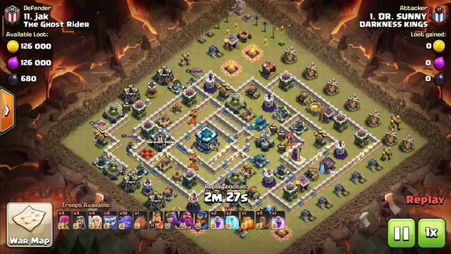 Clash of clans Only 3 stars. How to Legend push/War Attack Th13 #15