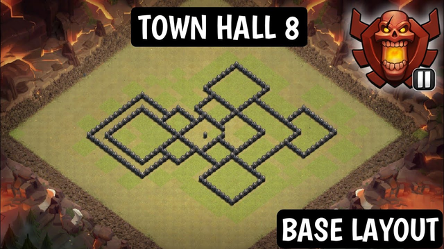 Clash of clans anti base layout for Town hall 8 ll 0 star base layout for town hall 8 2020 in Hindi