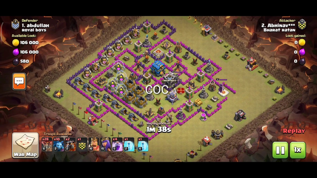 Unbelievable 2 star attack on th12 in war Clash of Clans