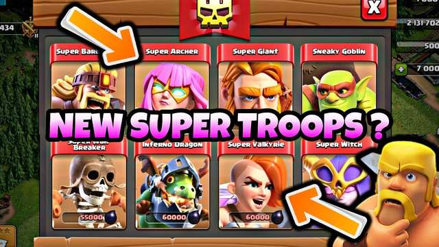 CLASH OF CLANS NEW SUPER TROOPS !! SUPER VALKYRIE & SUPER ARCHER (GAMEPLAY) | Clash with Apo