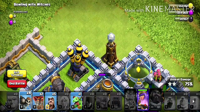 Bowling with Witches strategy for Town Hall 12 (Clash of Clans)