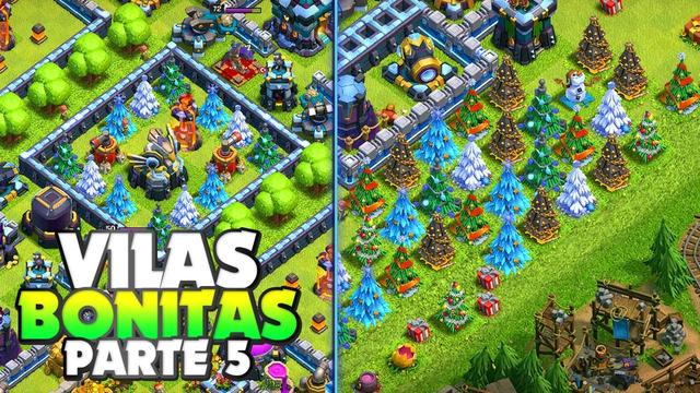 TOP 10 VILAS MAIS BONITAS DO CLASH OF CLANS PARTE 5 (VILLAGE BEAUTIFUL)