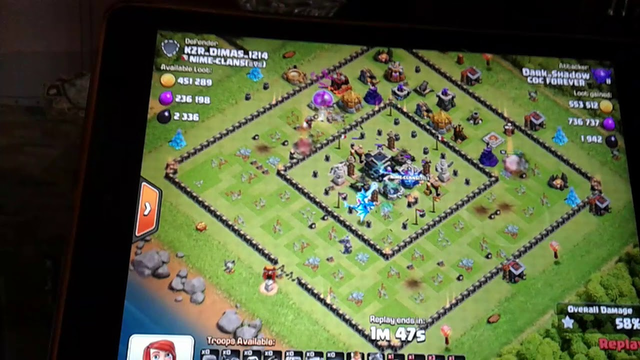 Clash of clans taking 1m loot