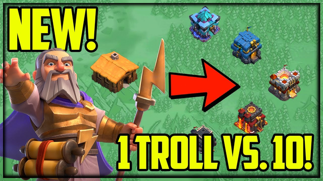 ALL NEW! Clash of Clans 1vs. 10 TROLL Wars!