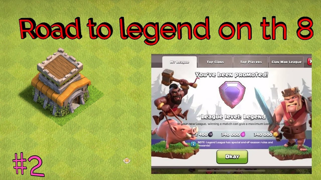 Clash of Clans live stream | TH 8 Road to Legend # ep 3