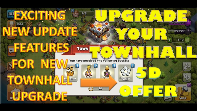 CLASH OF CLANS : UPGRADE YOUR TOWNHALL WITH 5D OFFERS