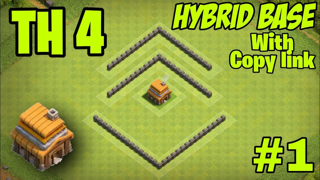 Town Hall 4 Hybrid Base #1 With Replay - Clash Of Clans