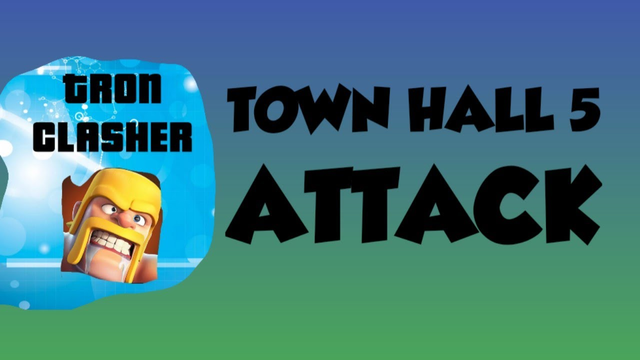 Clash Of Clans TH 5 Attack..................................!
