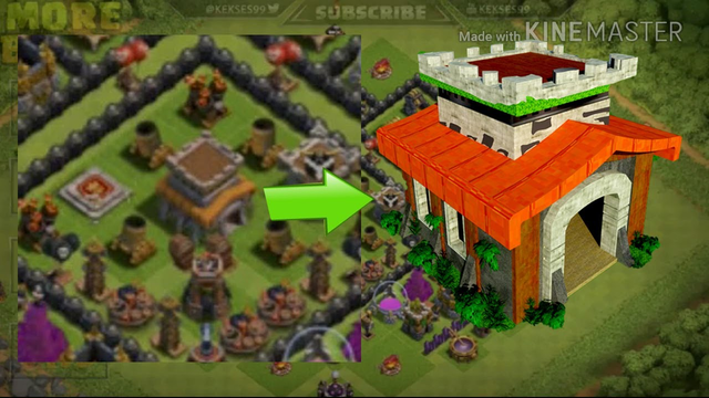 #Sketchup Tutorial -#Clash of clans Town hall 8 model -#COC