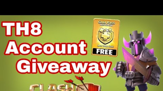 TH8 Free Account Giveaway| 100% Free Account|Clash Of Clans-COC