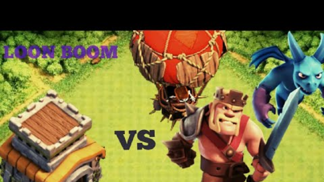 Clash of clans town hall 8 LOON BOOM attack in bengali