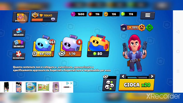 Oggi porto brawl stars e Clash of Clans