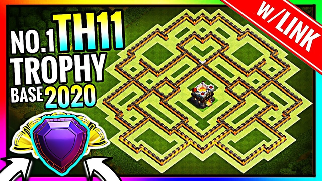 New BEST TH11 TROPHY Base w/LINK 2020!! Town Hall 11 Trophy Base Design [Defense] - Clash of Clans