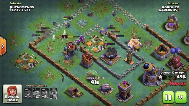 Builder's village destruction || clash of clans