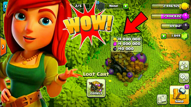 Wow Collect loot cart over 14 million | Clash of clans