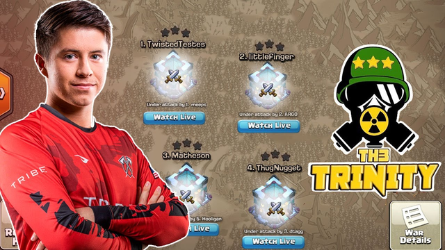Can He Save the Triple? | Hello4Now vs TH3 Trinity | #clashofclans