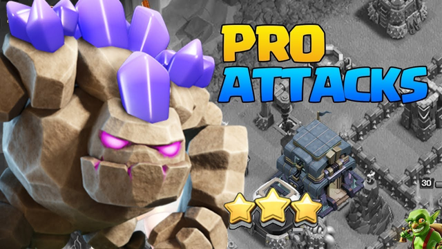 TH12 PRO ATTACK STRATEGIES in Clash of Clans! Pro Golem Attack - After Update 3 Star Attacks CoC!