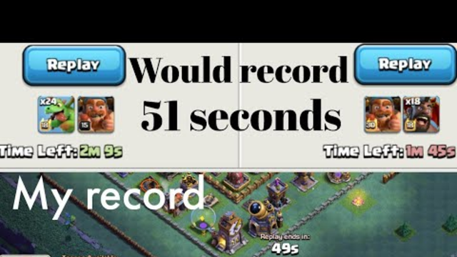 Builder Hall 9_Clash of clans _ my new world record 51 seconds 2020 July 3
