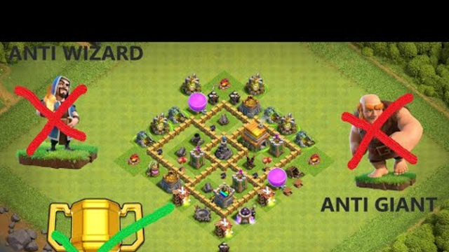 TH5 | WAR/TROPHY BASE | COC | CLASH OF CLANS | ANTI GIANT | ANTI WIZARD | 2020 |