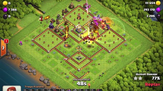 Clash of Clans Town Hall 11 Dragon Attack 100% Destruction