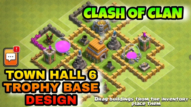 Clash Of Clans | Town Hall 6 | Trophy Base Design @ SPR GAMING ZONE