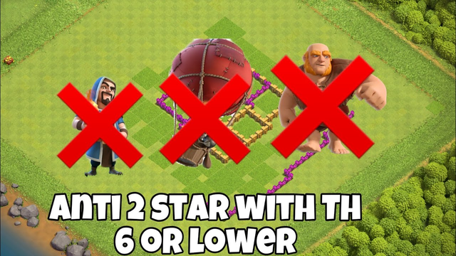 Clash of clans amazing Th 6 hybrid base! | Link in desc