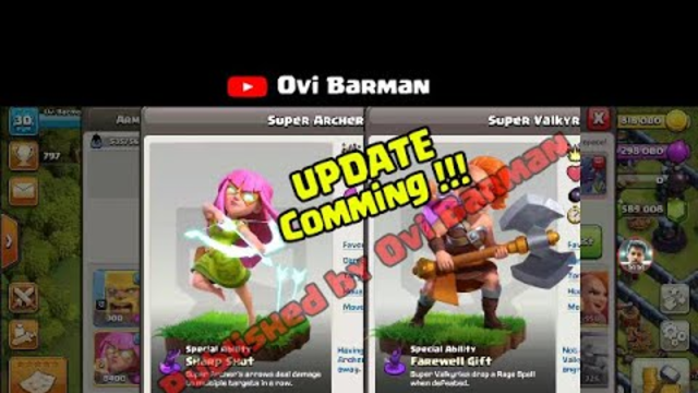 Super Valkyrie and Super Archer is coming soon | Clash of Clans| UPDATE 2020 | Ovi Barman