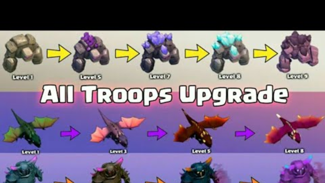 UPGRADING ALL TROOPS IN JUST 6 MINUTES! CLASH OF CLANS |